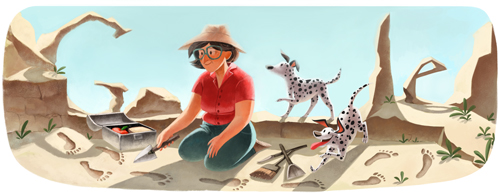 Google's Mary Leakey Logo