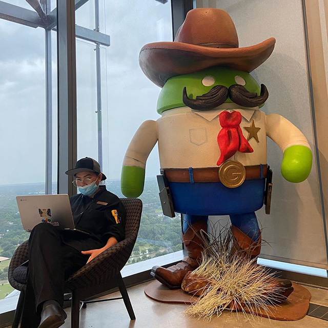 Mask Wearing At Google Austin Near The Cowboy Android