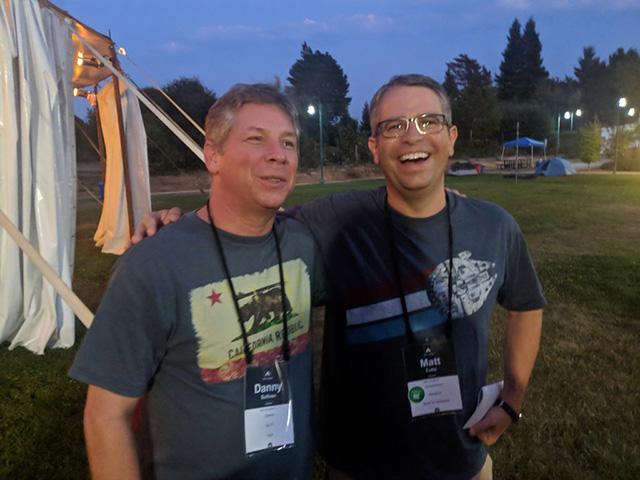 Matt Cutts & Danny Sullivan At Foo Camp