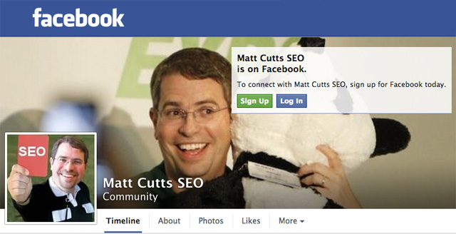 Matt Cutts Facebook
