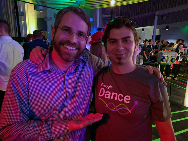 Matt Cutts With Gary Illyes At The Google Dance