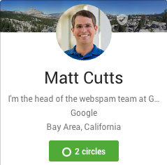 matt cutts google+