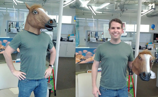 Google's Matt Cutts In A Horse Head Mask