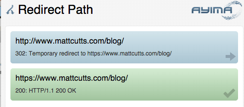Matt Cutts HTTPS 302 Redirect