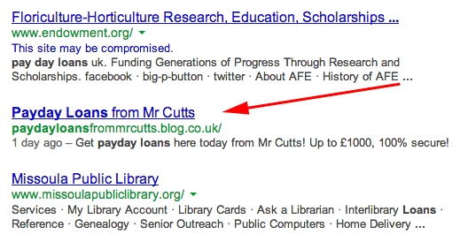 Matt Cutts With Payday Loan Hack