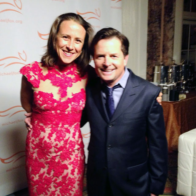 Anne Wojcicki & Michael J. Fox
