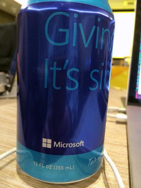 Microsoft Soda Can