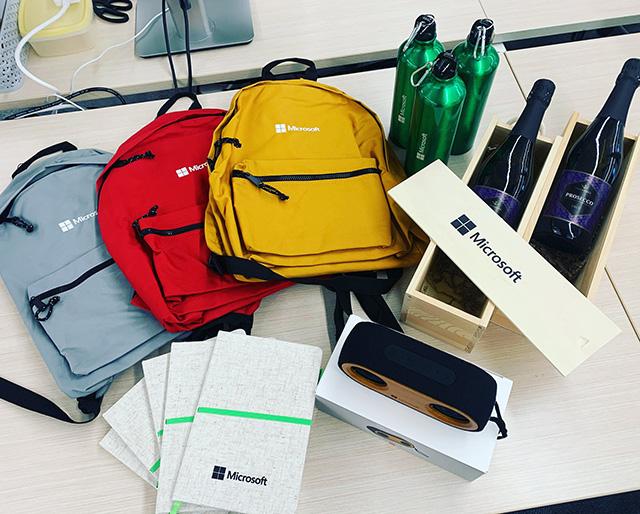 Microsoft Swag: Wine, Binoculars, Bags, Pads & Water Bottles