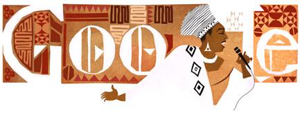 Miriam Makeba's Google Logo