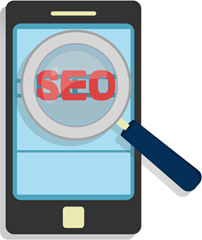 mobile seo icon