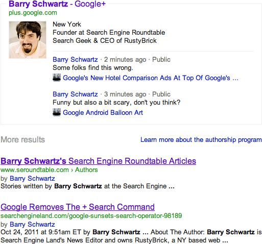 google author more page