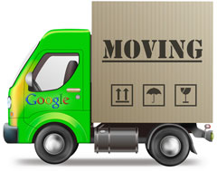 google maps moving places
