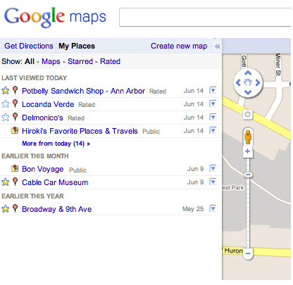 Google My Places