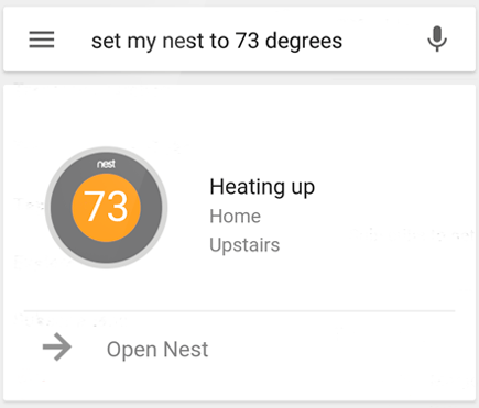 Google Now & Nest