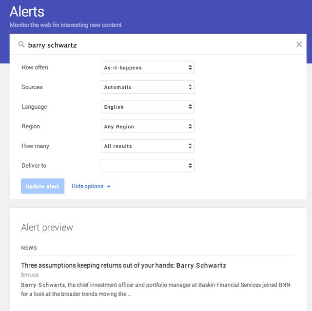 New Google Alerts