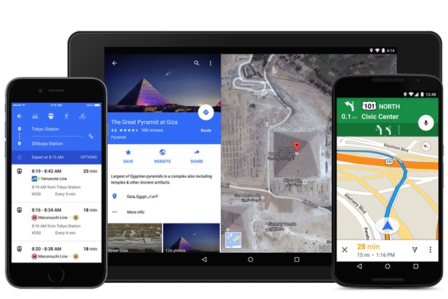 Google Maps App Material Design