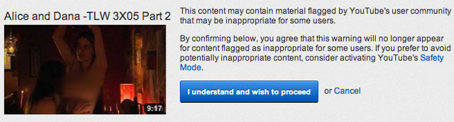 NSFW YouTube Warning