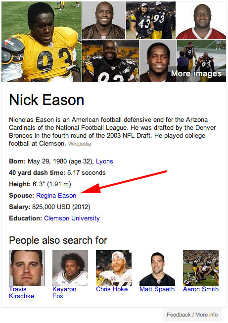 Nick Eason Google Knowledge Graph