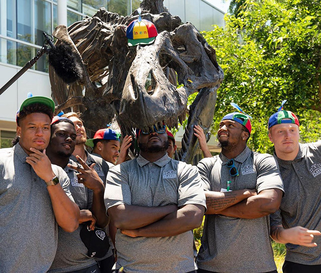 Oakland Raiders Meet Stan The Google Dinosaur