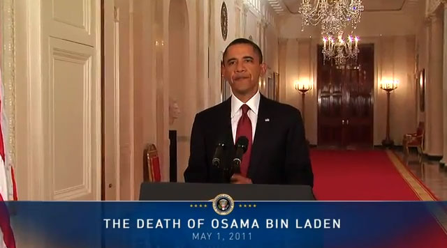Osama Bin Laden Dead - Announced by President Obama