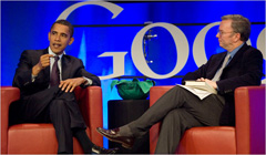 Obama at Google Picture