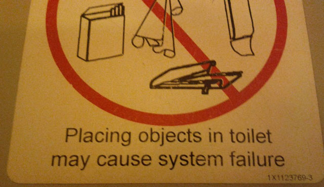 Funny Sign : Toilet System Failure