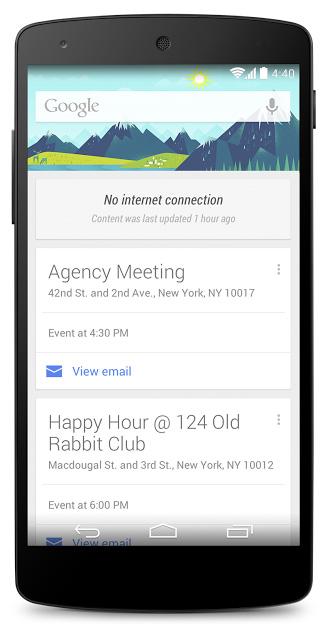 Offline Google Now