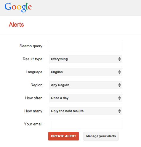 Old Google Alerts