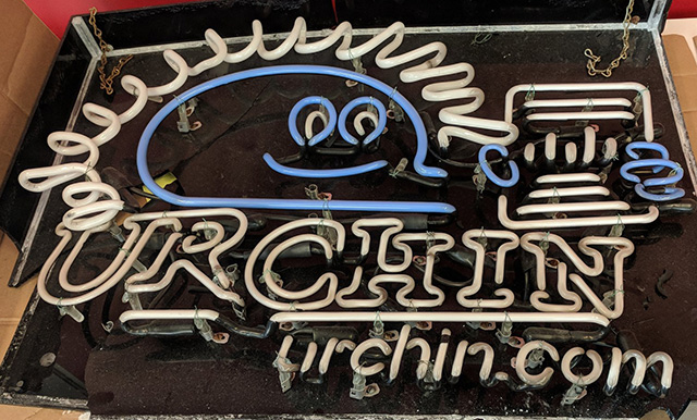 Old Urchin Light Up Neon Sign At Google