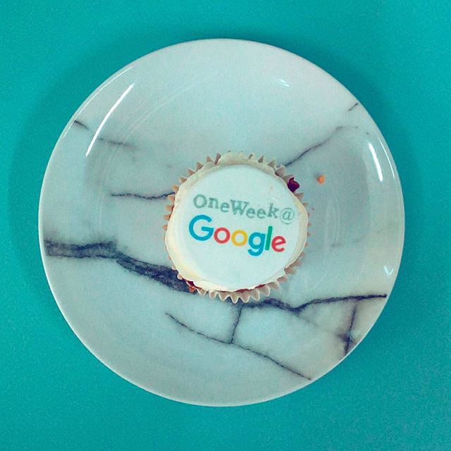 One Week At Google Cupcake