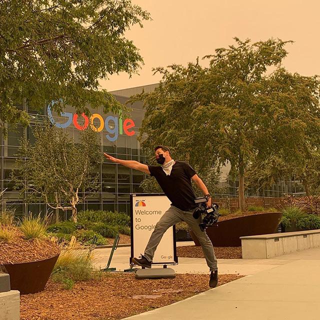 Orange Skies At Google During Wildfires