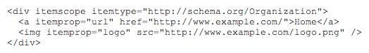 using organization schema code