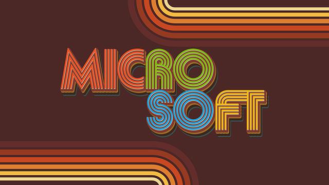 Original Retro Microsoft Logo