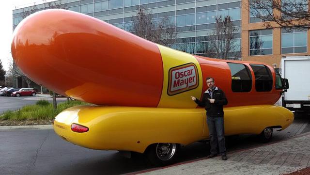 The Oscar Mayer Wienermobile at Google