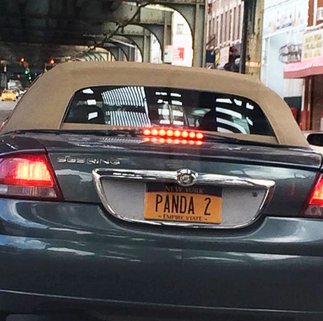 Google Panda License Plate In New York