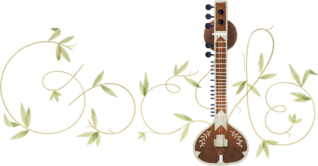 Google Sitar Logo For Pandit Ravi Shankar