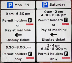 parking signs misleading
