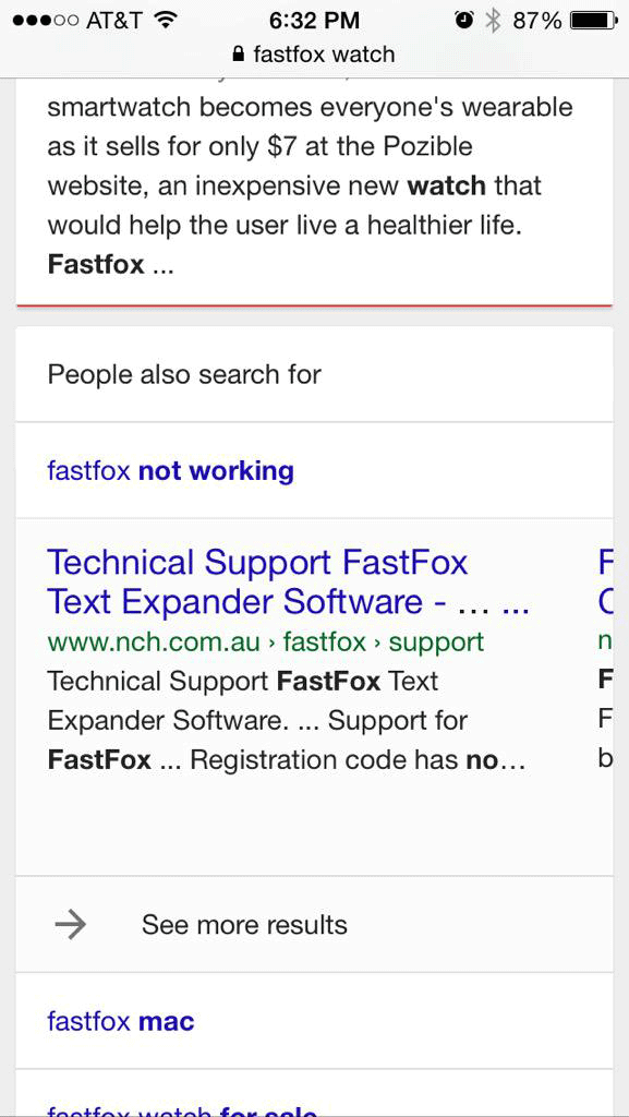 Google Mobile People Also Search For Feature