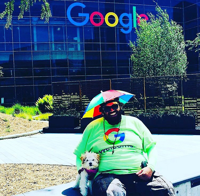 Google Peter The Greeter Says Stay Positive