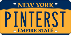 NY Pinterest License Plate
