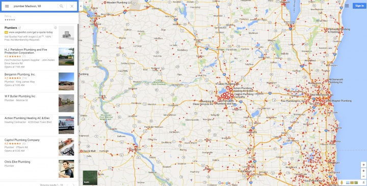Google Maps Now Shows 10 Results, Down From 20 Results