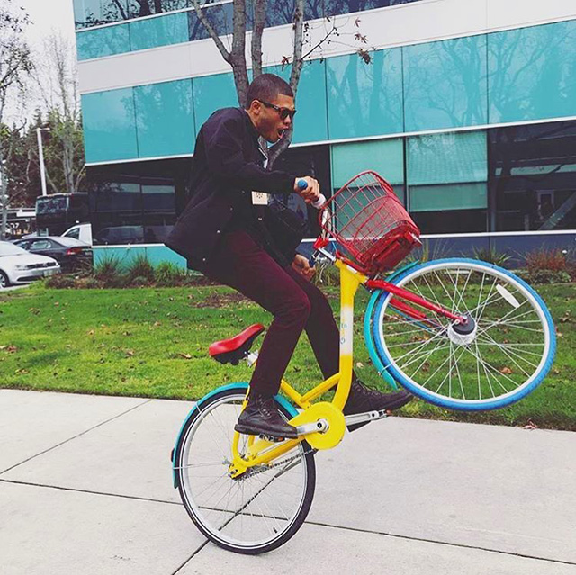 Pop A Wheelie On A Google Bike