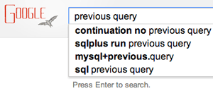 Google Previous Query