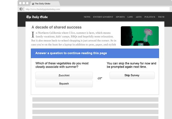 Google Consumer Surveys Embed Publisher