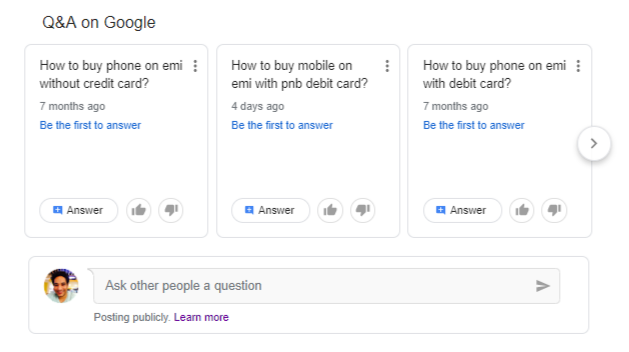 Google dropped Q&A in Search results but not Question Hub