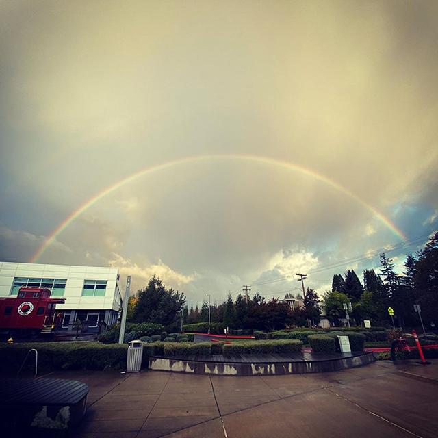 Google Seattle Rainbow