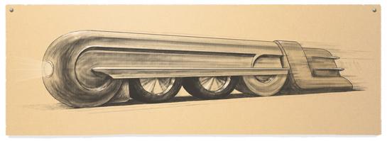 Google Train Doodle For Raymond Loewy