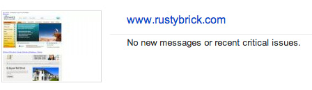 RustyBrick Google Webmaster Tools Preview