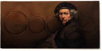 Rembrandt van Rijn Google Logo