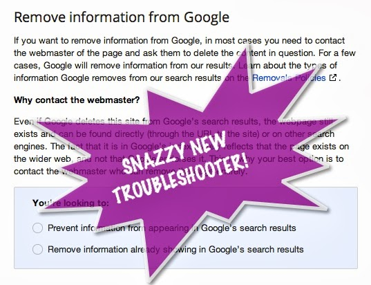 Google Content Removal Troubleshooter